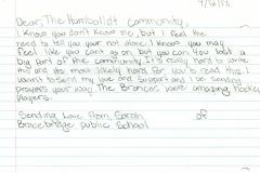 Student Letter from Bracebridge, Ontario B-1988(af)