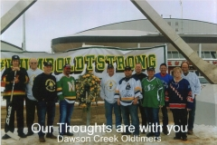 Photograph of the Dawson Creek Oldtimers Hockey Team