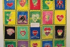 """""""Hearts For Humboldt"""" Batik Artwork Quilt"""