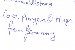 Message of Condolence from Germany B-1557