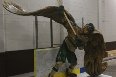 Hockey Angel Carved Statue